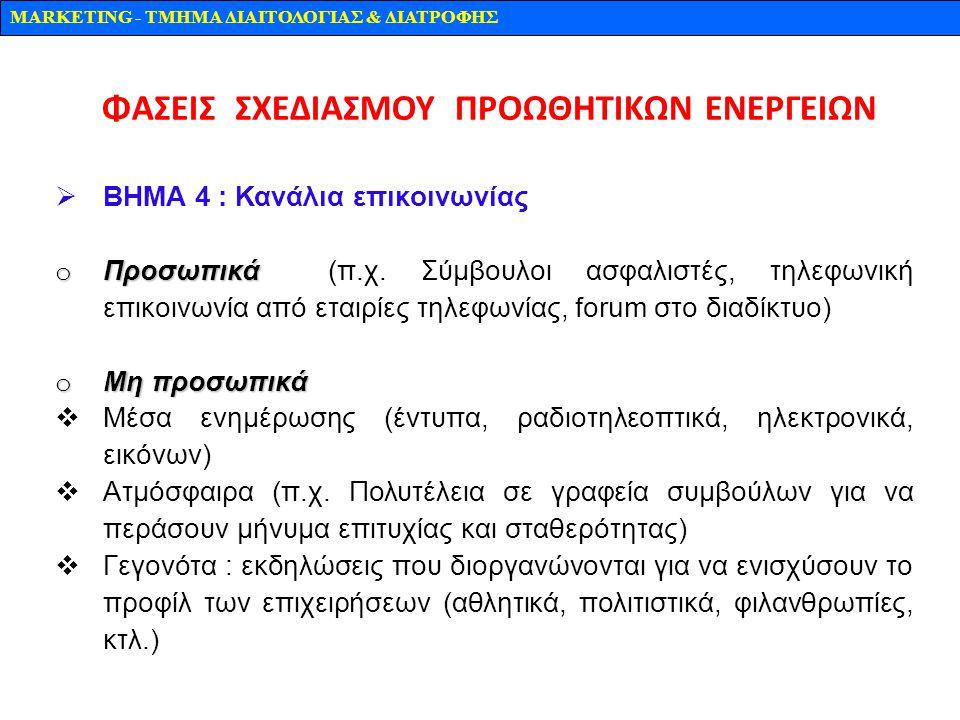ΦΑΣΕΙΣ ΣΧΕΔΙΑΣΜΟΥ ΠΡΟΩΘΗΤΙΚΩΝ ΕΝΕΡΓΕΙΩΝ