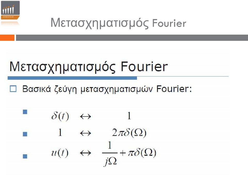 Μετασχηματισμός Fourier
