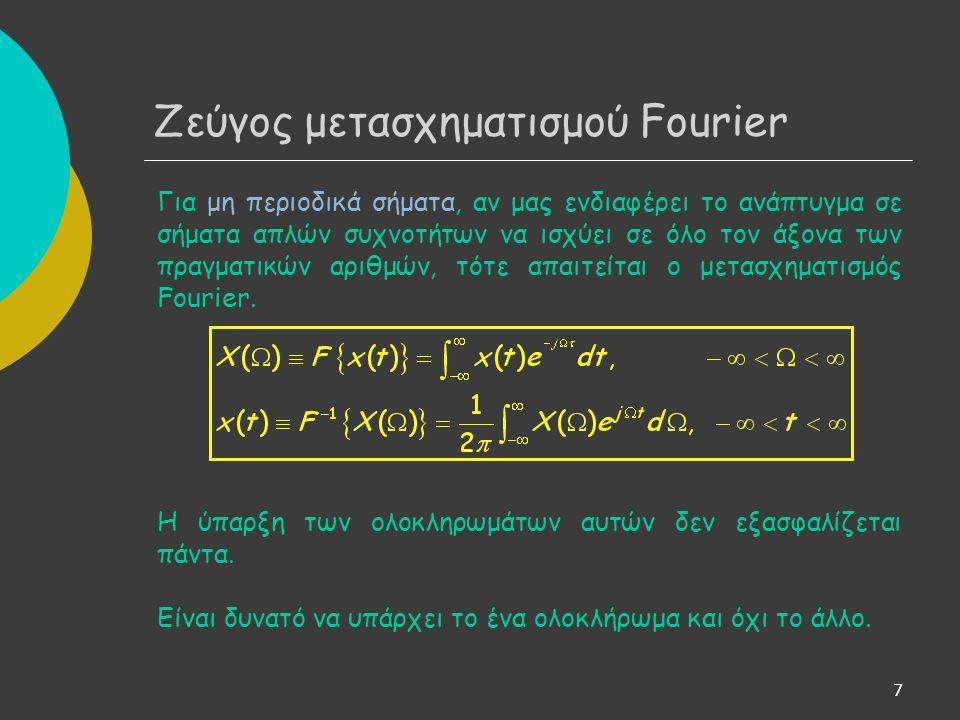 Ζεύγος μετασχηματισμού Fourier