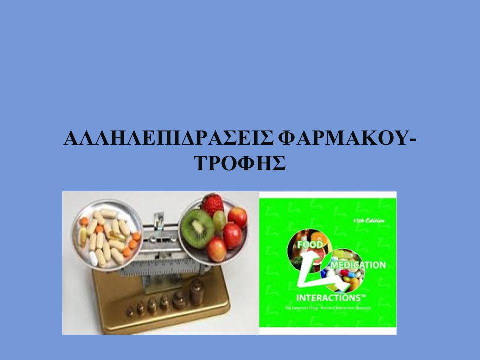 ΑΛΛΗΛΕΠΙΔΡΑΣΕΙΣ ΦΑΡΜΑΚΟΥ-ΤΡΟΦΗΣ