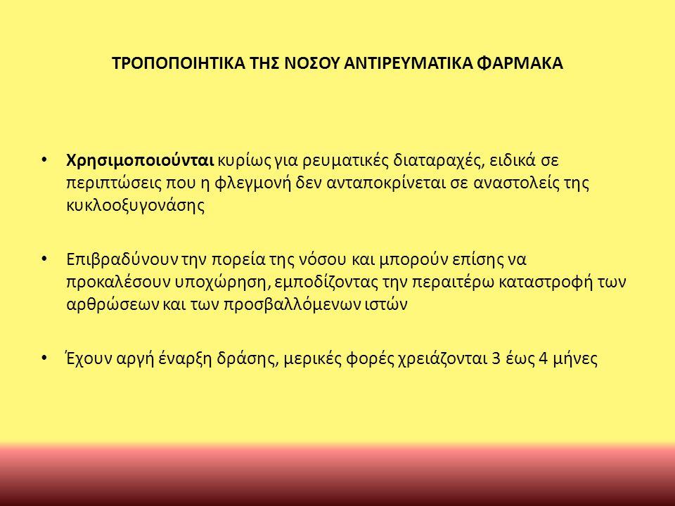 ΤΡΟΠΟΠΟΙΗΤΙΚΑ ΤΗΣ ΝΟΣΟΥ ΑΝΤIΡΕΥΜΑΤΙΚΑ ΦΑΡΜΑΚΑ