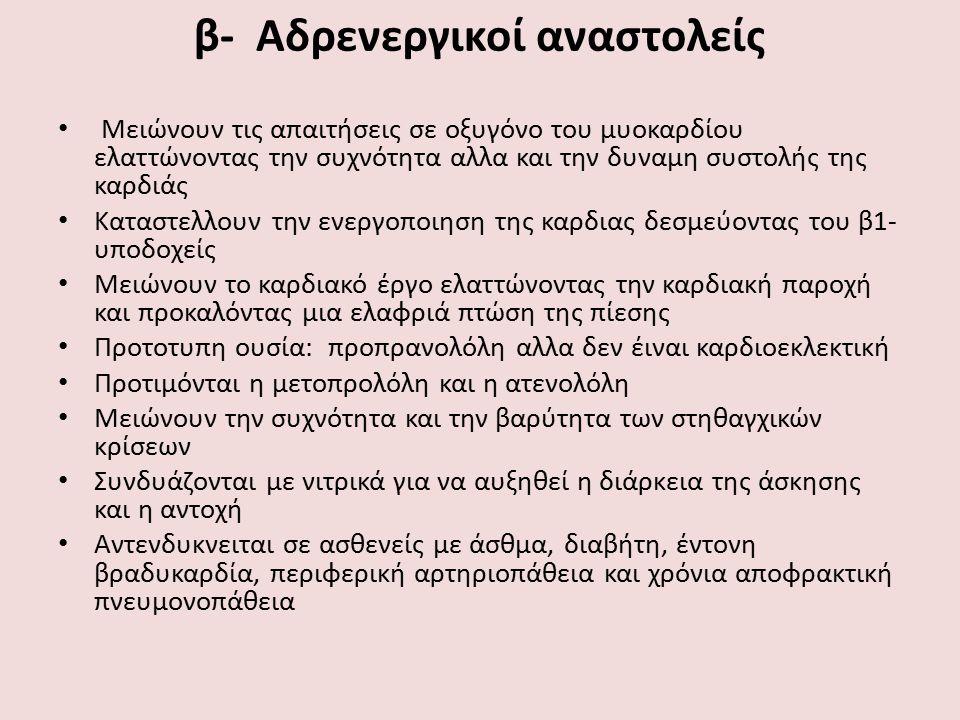 β- Αδρενεργικοί αναστολείς