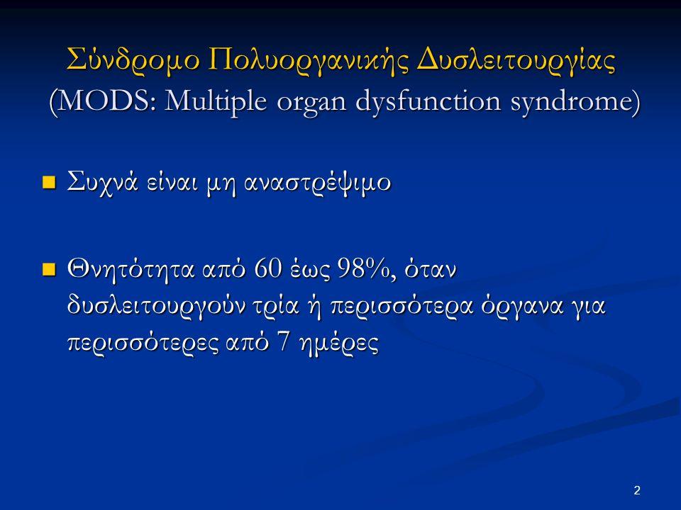 Σύνδρομο Πολυοργανικής Δυσλειτουργίας (MODS: Multiple organ dysfunction syndrome)