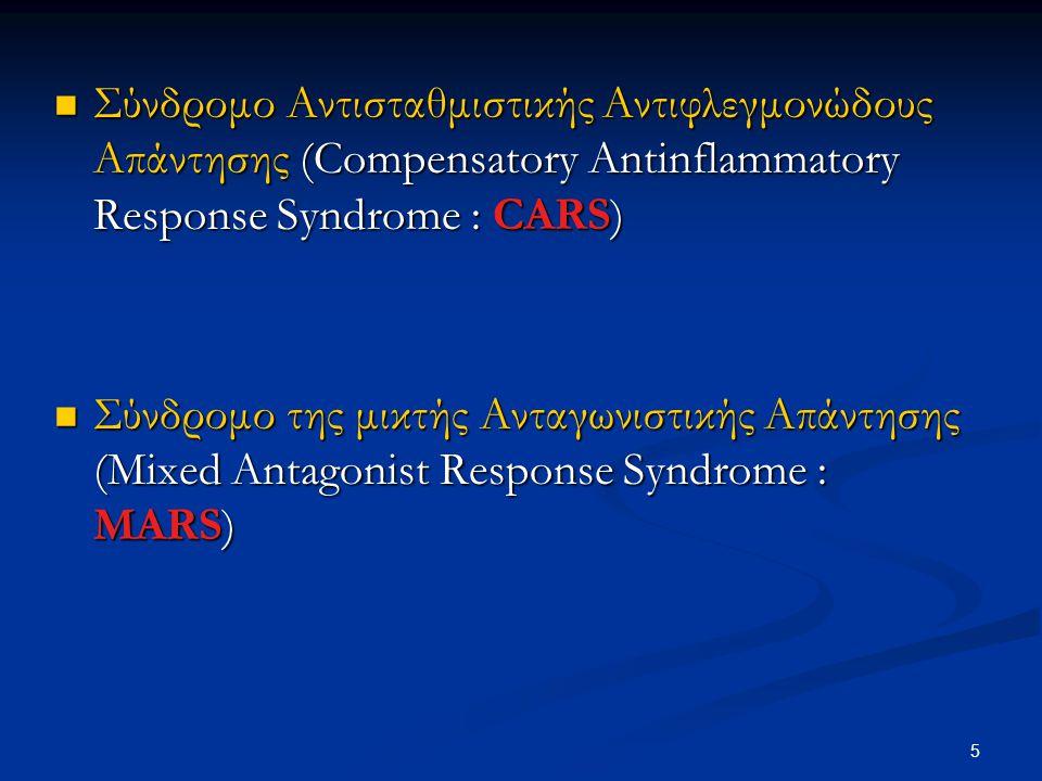 Σύνδρομο Αντισταθμιστικής Αντιφλεγμονώδους Απάντησης (Compensatory Antinflammatory Response Syndrome : CARS)