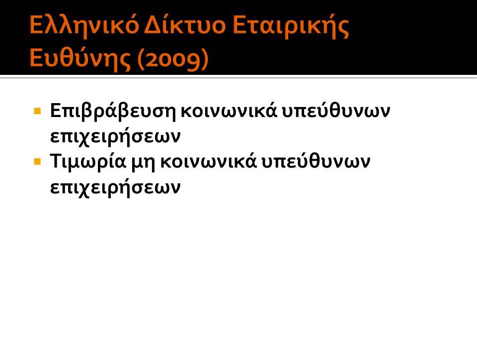 Ελληνικό Δίκτυο Εταιρικής Ευθύνης (2009)