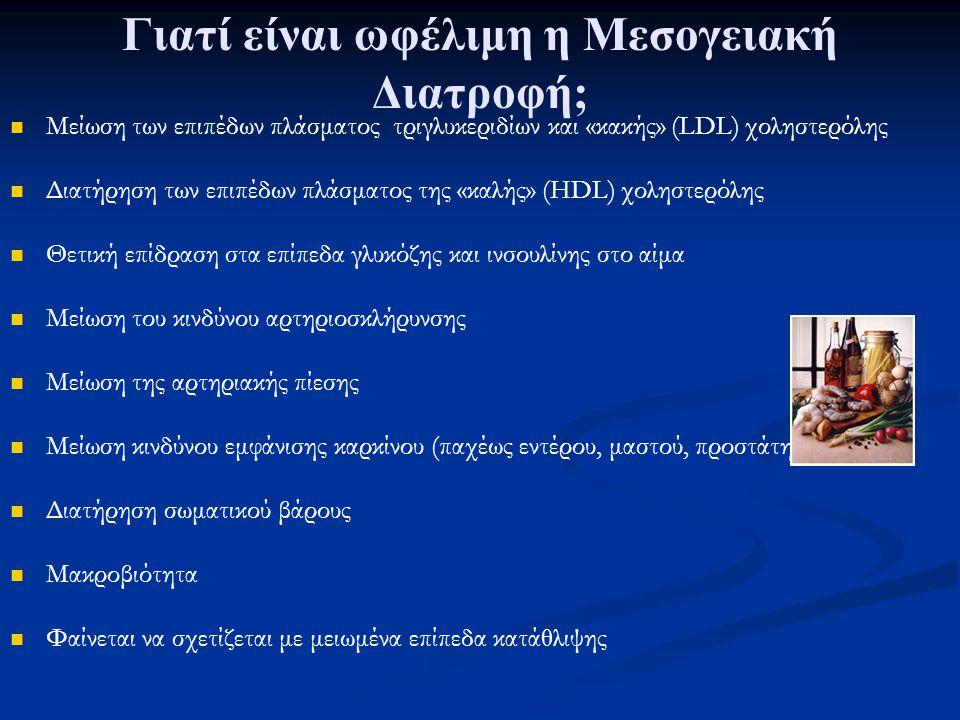 Γιατί είναι ωφέλιμη η Μεσογειακή Διατροφή;