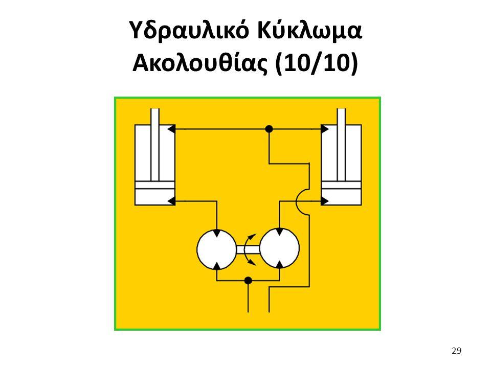 Υδραυλικό Κύκλωμα Ακολουθίας (10/10)