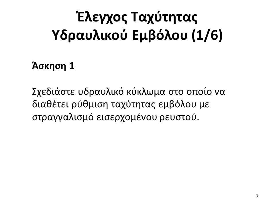 Έλεγχος Ταχύτητας Υδραυλικού Εμβόλου (1/6)