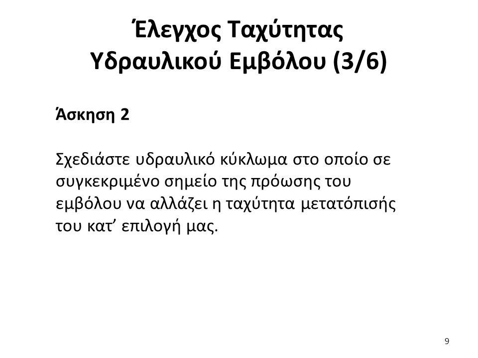 Έλεγχος Ταχύτητας Υδραυλικού Εμβόλου (3/6)