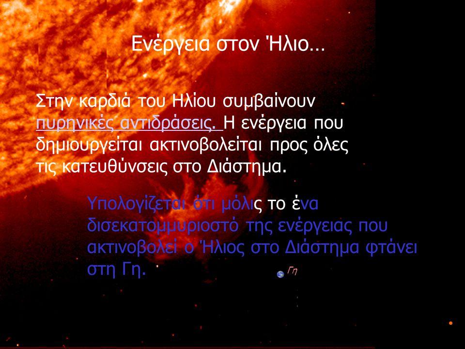 Γη Ενέργεια στον Ήλιο…