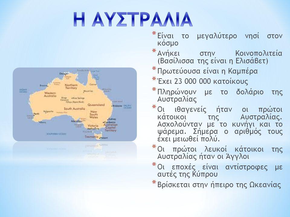 Η ΑΥΣΤΡΑΛΙΑ Είναι το μεγαλύτερο νησί στον κόσμο