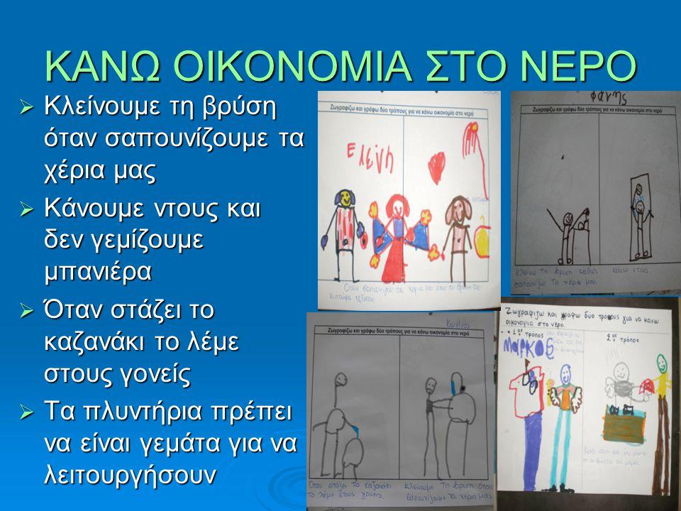 ΚΑΝΩ ΟΙΚΟΝΟΜΙΑ ΣΤΟ ΝΕΡΟ