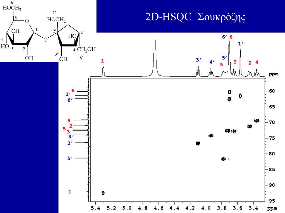 2D-HSQC Σουκρόζης