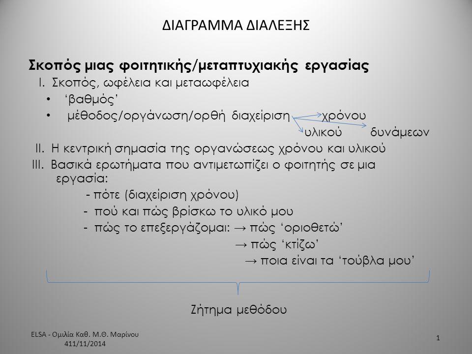 ELSA - Ομιλία Καθ. Μ.Θ. Μαρίνου 411/11/2014