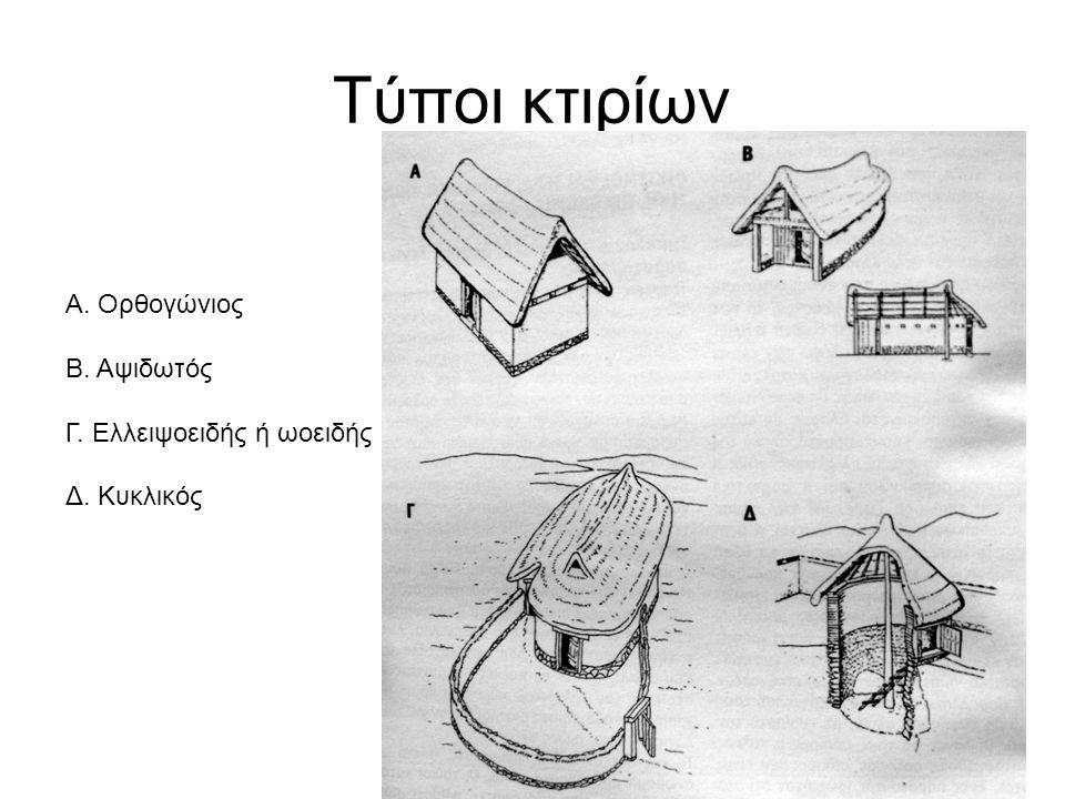 Τύποι κτιρίων Α. Ορθογώνιος Β. Αψιδωτός Γ. Ελλειψοειδής ή ωοειδής
