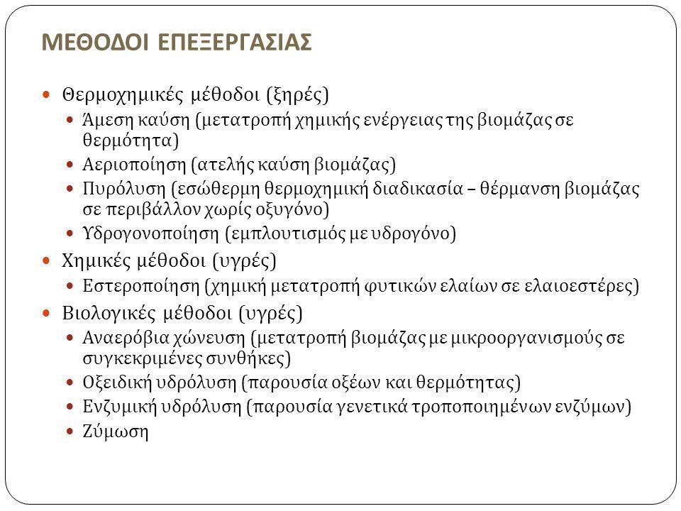 ΜΕΘΟΔΟΙ ΕΠΕΞΕΡΓΑΣΙΑΣ Θερμοχημικές μέθοδοι (ξηρές)