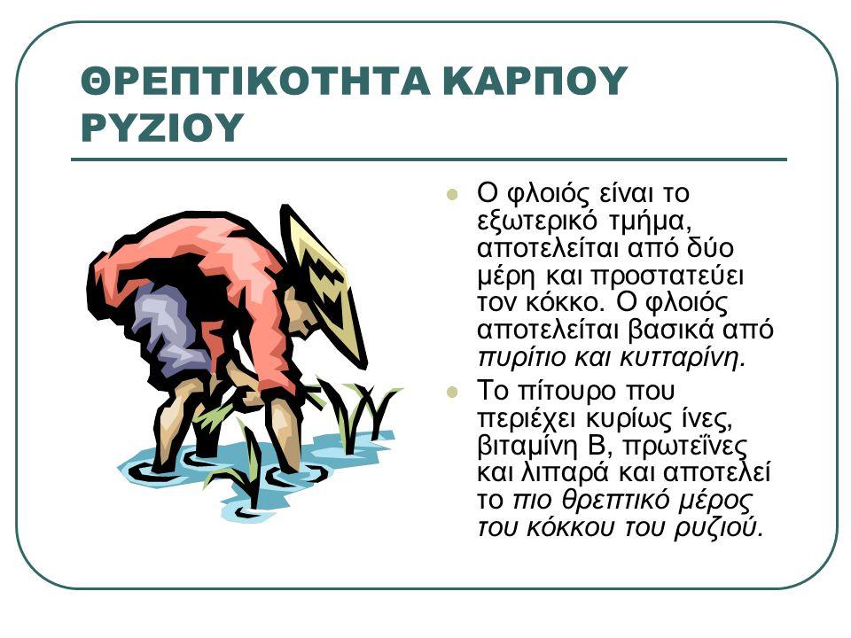 ΘΡΕΠΤΙΚΟΤΗΤΑ ΚΑΡΠΟΥ ΡΥΖΙΟΥ