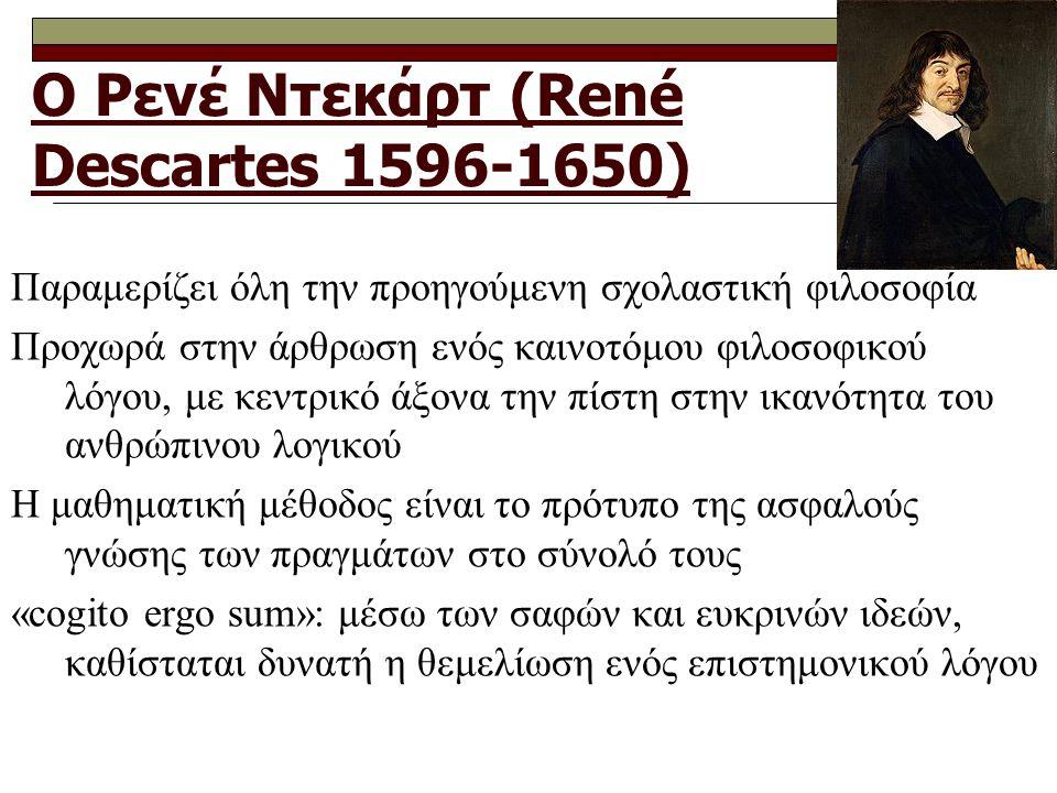 Ο Ρενέ Ντεκάρτ (René Descartes 1596-1650)