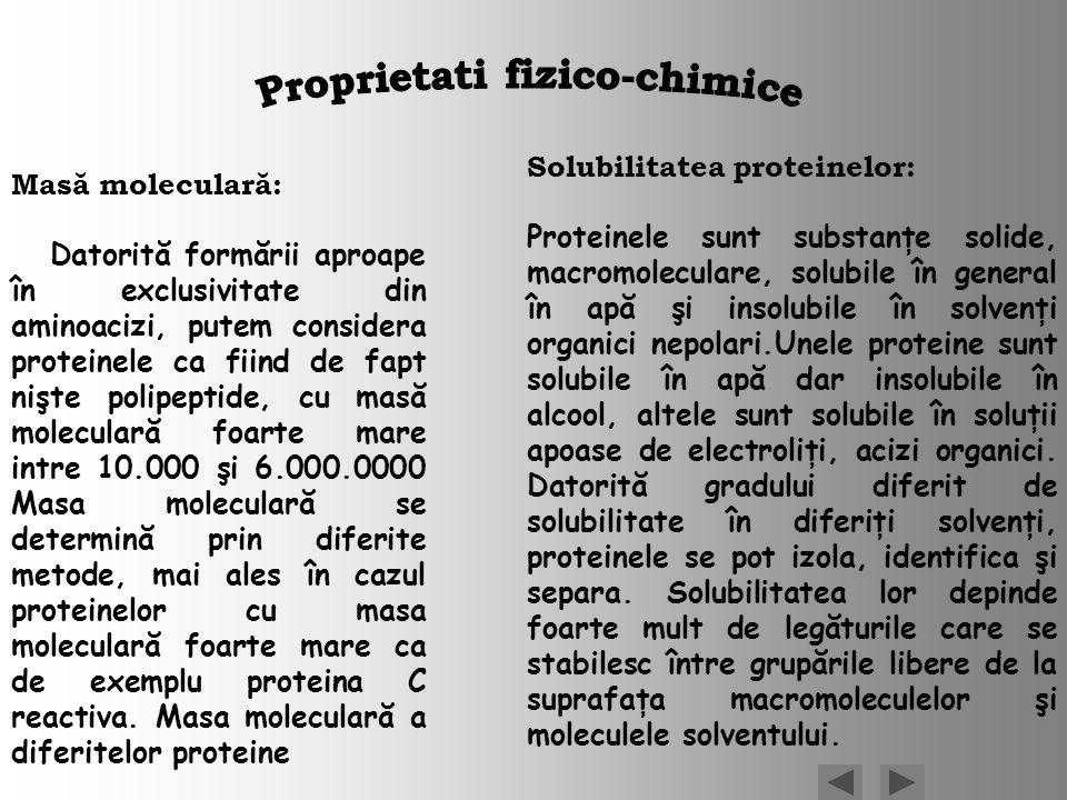 Proprietati fizico-chimice