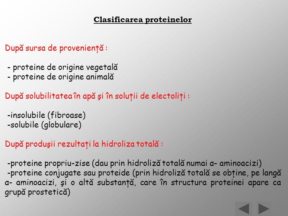 Clasificarea proteinelor