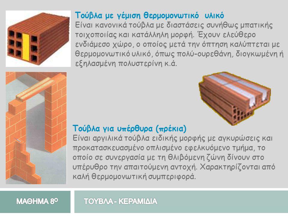 Τούβλα με γέμιση θερμομονωτικό υλικό