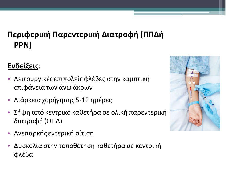 Περιφερική Παρεντερική Διατροφή (ΠΠΔή PPN)