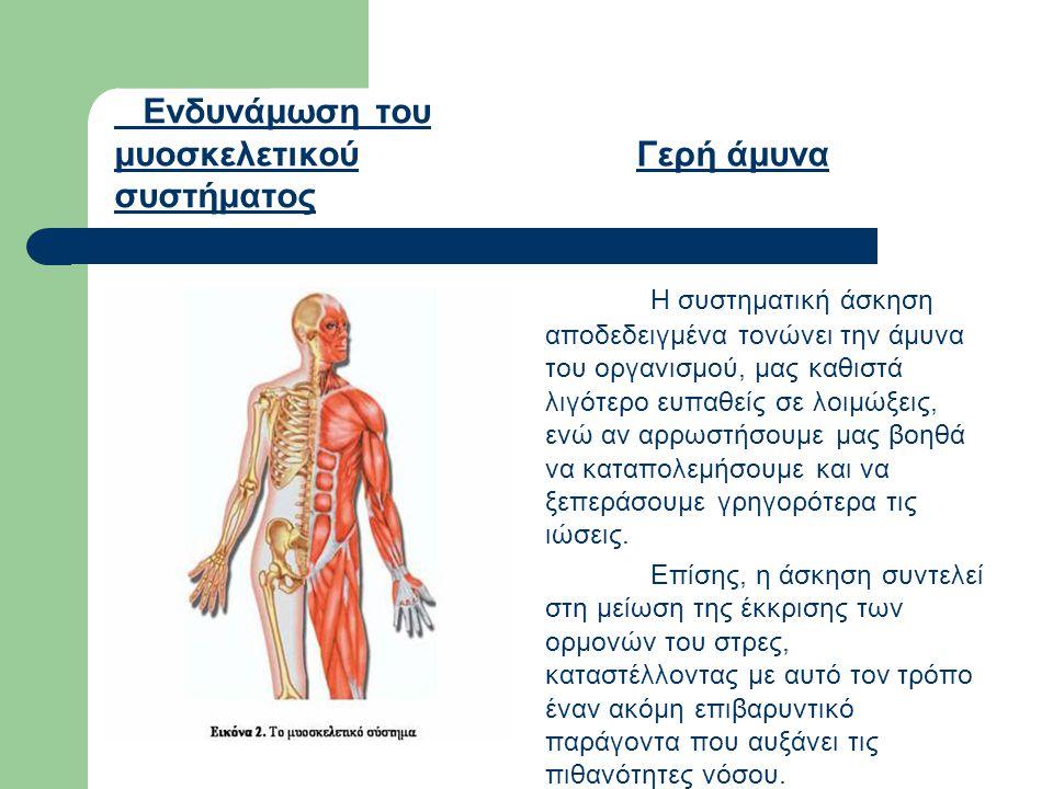 Ενδυνάμωση του μυοσκελετικού συστήματος Γερή άμυνα