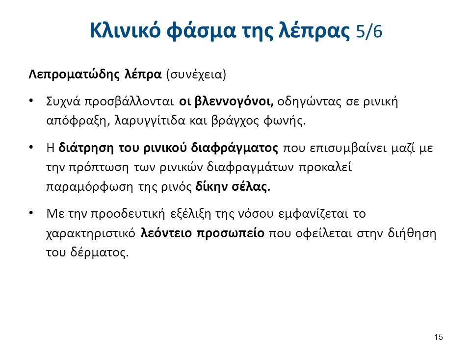 Κλινικό φάσμα της λέπρας 6/6