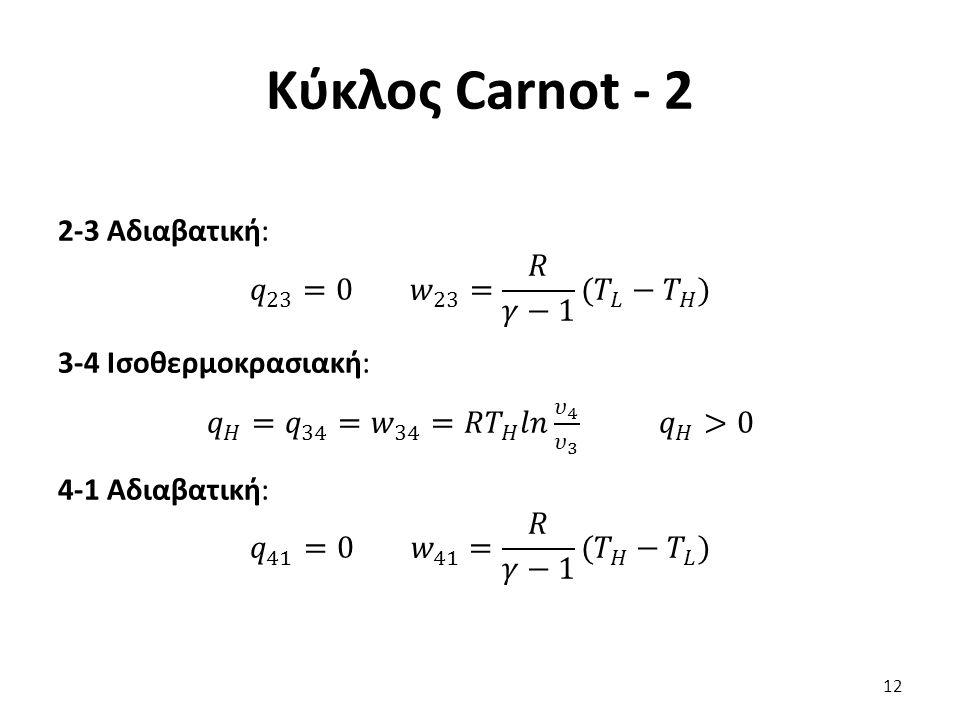 𝑞 𝐻 = 𝑞 34 = 𝑤 34 =𝑅 𝑇 𝐻 𝑙𝑛 𝜐 4 𝜐 3 𝑞 𝐻 >0