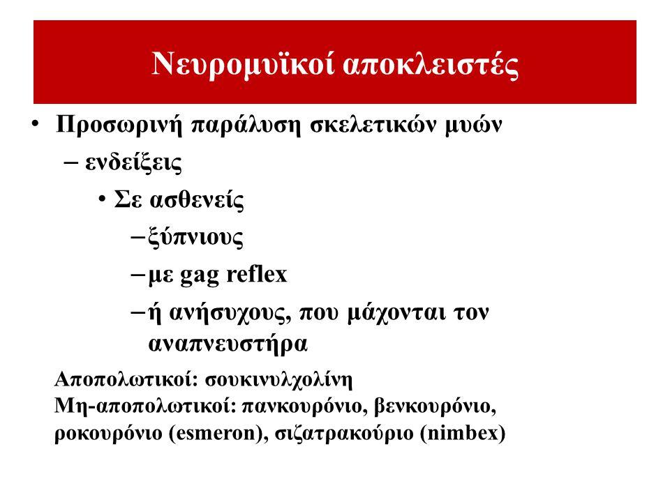 Νευρομυϊκοί αποκλειστές