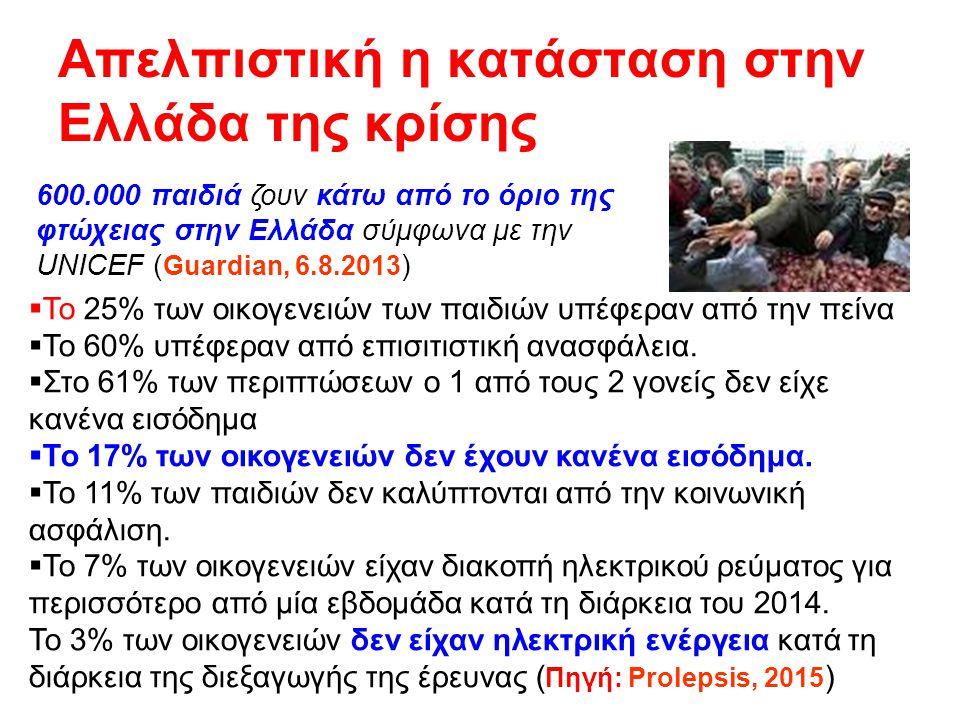Απελπιστική η κατάσταση στην Ελλάδα της κρίσης