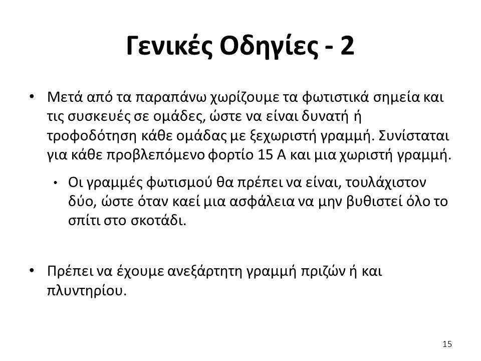 Γενικές Οδηγίες - 2