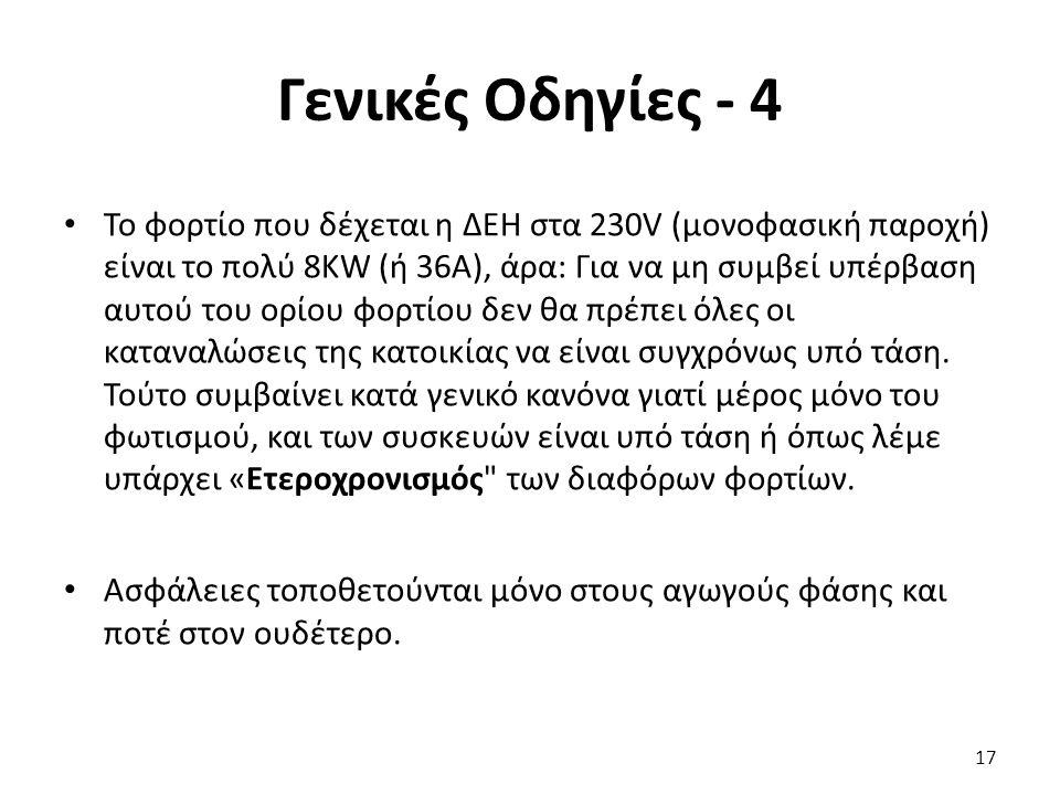 Γενικές Οδηγίες - 4