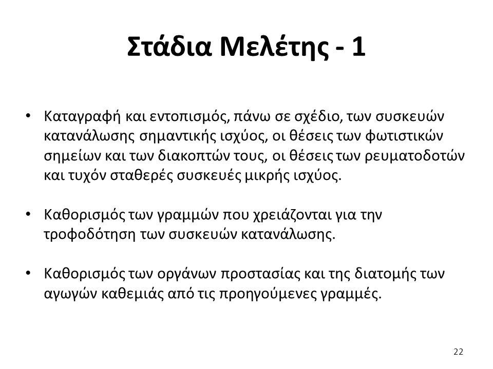 Στάδια Μελέτης - 1
