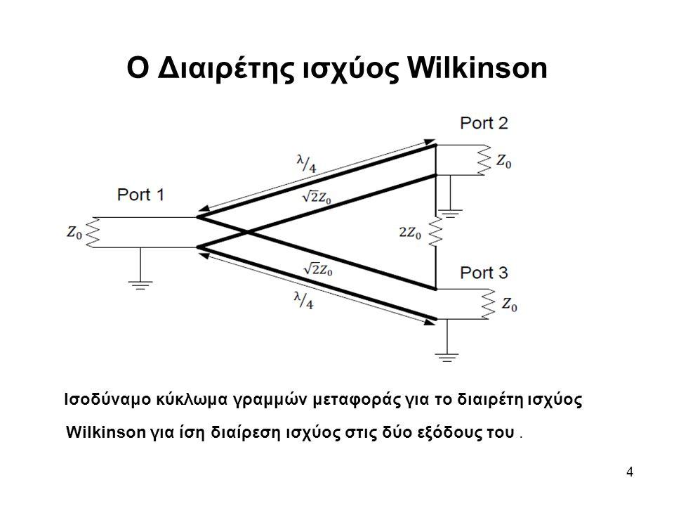 Ο Διαιρέτης ισχύος Wilkinson