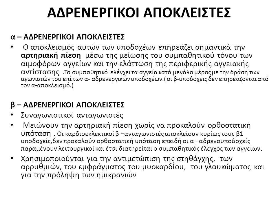 ΑΔΡΕΝΕΡΓΙΚΟΙ ΑΠΟΚΛΕΙΣΤΕΣ