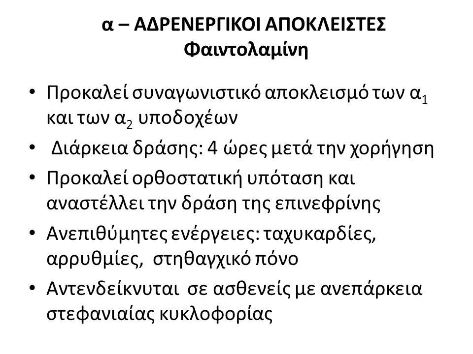 α – ΑΔΡΕΝΕΡΓΙΚΟΙ ΑΠΟΚΛΕΙΣΤΕΣ Φαιντολαμίνη