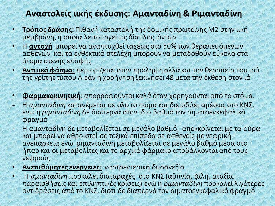 Αναστολείς ιικής έκδυσης: Αμανταδίνη & Ριμανταδίνη