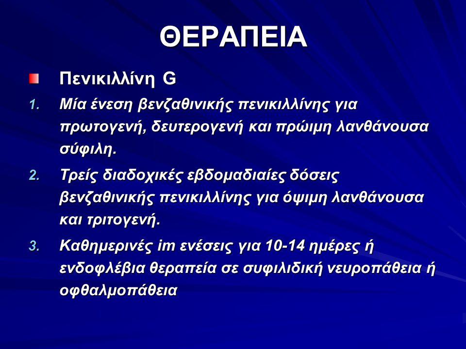 ΘΕΡΑΠΕΙΑ Πενικιλλίνη G