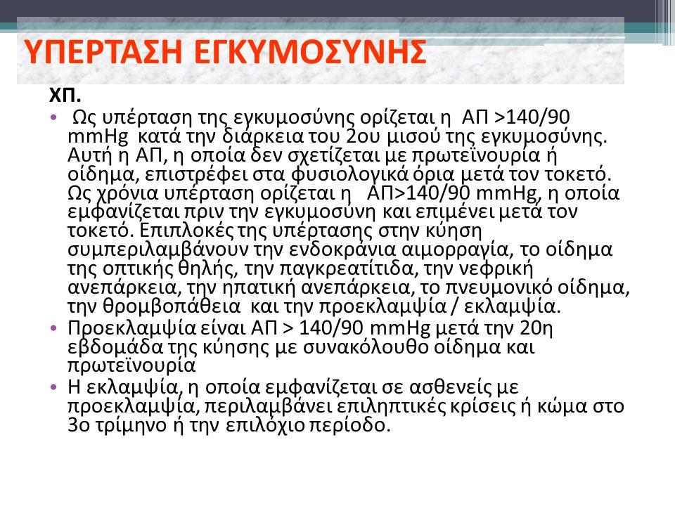 ΥΠΕΡΤΑΣΗ ΕΓΚΥΜΟΣΥΝΗΣ ΧΠ.