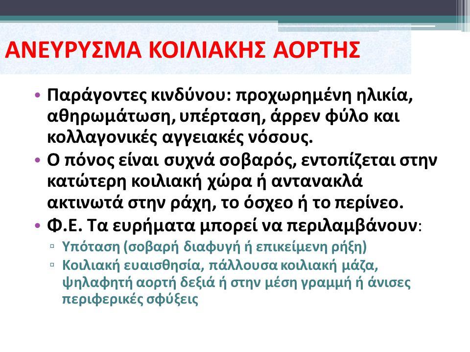 ΑΝΕΥΡΥΣΜΑ ΚΟΙΛΙΑΚΗΣ ΑΟΡΤΗΣ