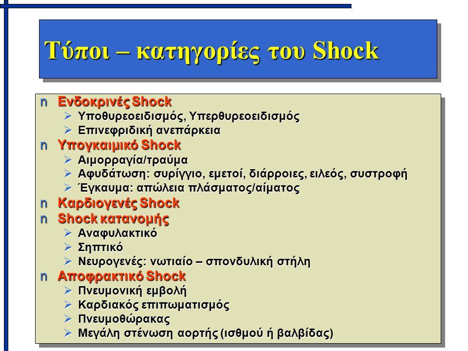 Τύποι – κατηγορίες του Shock