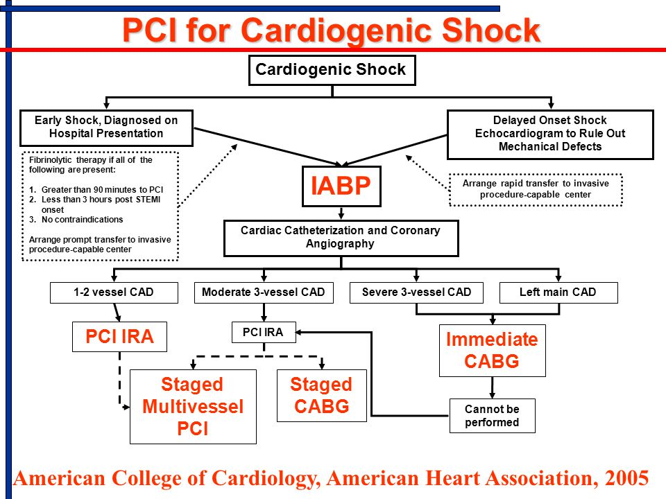 PCI for Cardiogenic Shock