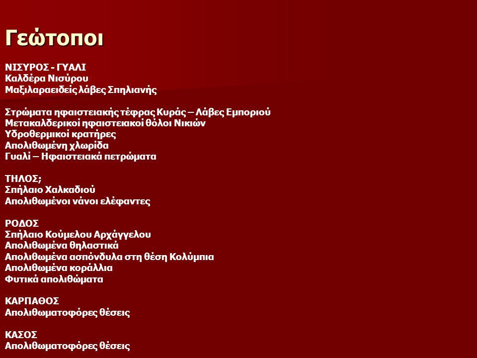 Γεώτοποι ΝΙΣΥΡΟΣ - ΓΥΑΛΙ Καλδέρα Νισύρου