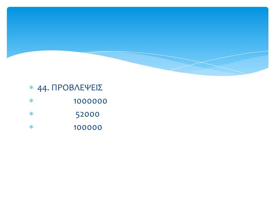 44. ΠΡΟΒΛΕΨΕΙΣ 1000000 52000 100000 Δρ. ΚΑΡΤΑΛΗΣ ΝΙΚΟΛΑΟΣ