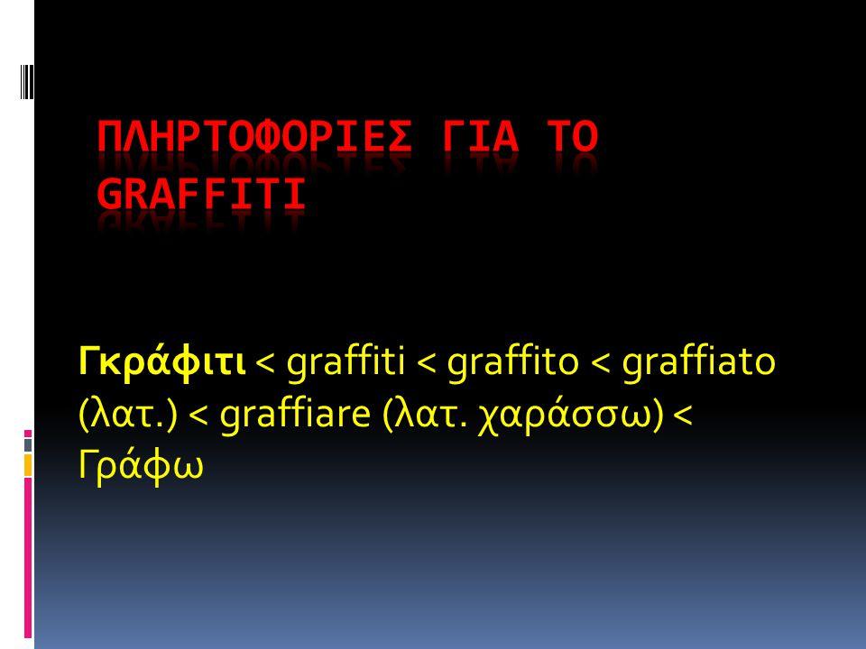 ΠΛΗΡΤΟΦΟΡΙΕΣ ΓΙΑ ΤΟ GRAFFITI