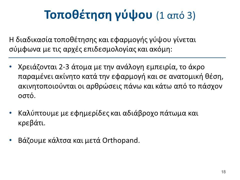 Τοποθέτηση γύψου (2 από 3)