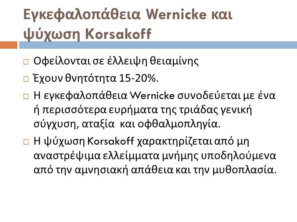 Εγκεφαλοπάθεια Wernicke και ψύχωση Korsakoff