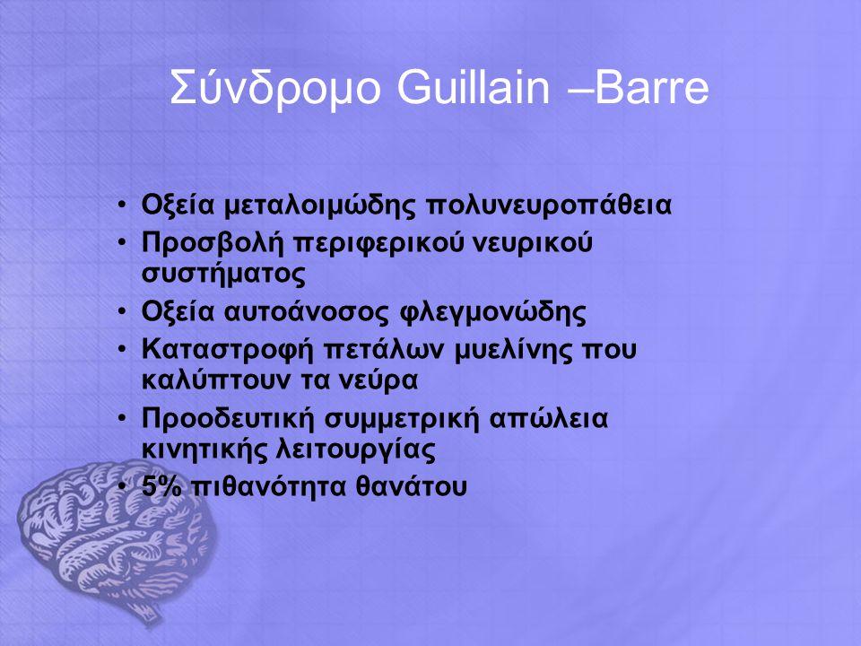 Σύνδρομο Guillain –Barre