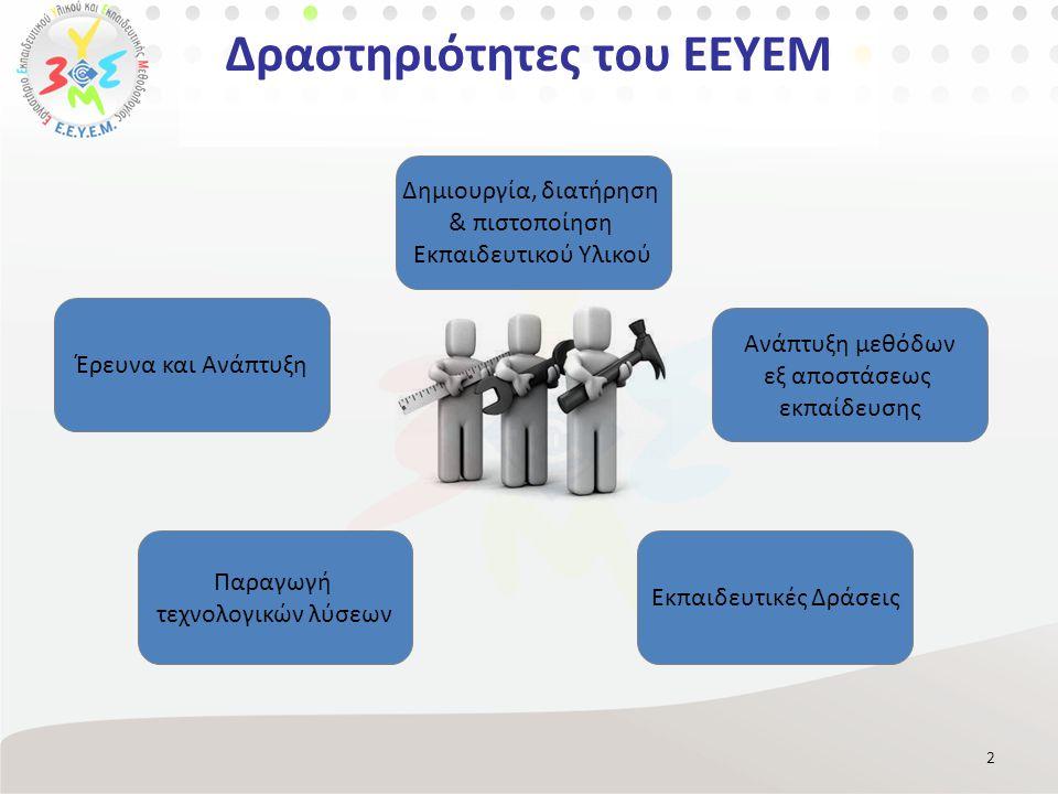 Δραστηριότητες του ΕΕΥΕΜ